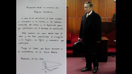 Fujimori pide al INPE que convoque a la Junta Médica para su evaluación