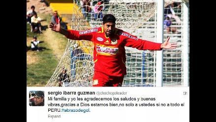 Sergio Ibarra agradeció en Twitter muestras de apoyo por accidente