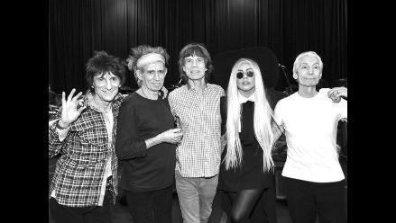 Lady Gaga acompañó a Rolling Stones en concierto de aniversario
