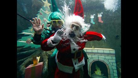 México: show navideño bajo el agua