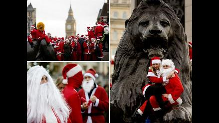 SantaCon: Papás Noel invaden las calles de Londres para celebrar