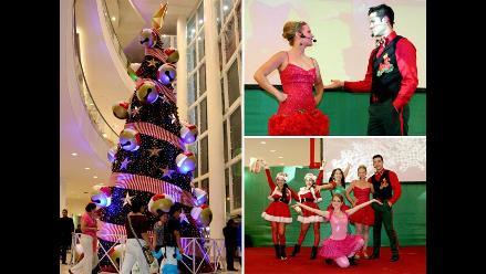 La Navidad llegó a Santa Anita con el tradicional encendido del árbol