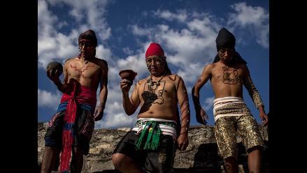 Descendientes de cultura maya despiden al quinto sol en Guatemala