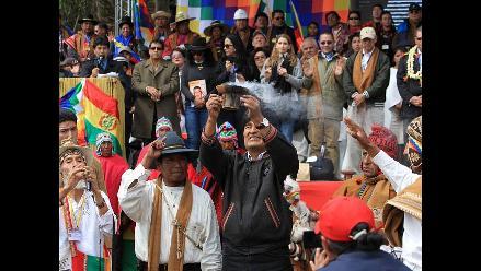 Morales celebra el solsticio criticando a la ONU y pide desmontar el FMI
