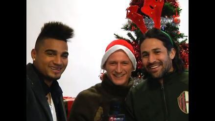 Jugadores del Milan celebran la Navidad entonando una pegajosa canción
