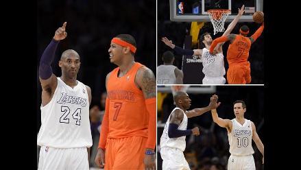 Lakers vencieron 100-94 a los Knicks en un apasionante duelo de la NBA