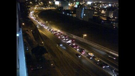 Congestión vehicular en Costa Verde por instalación de estrado del Dakar 2013
