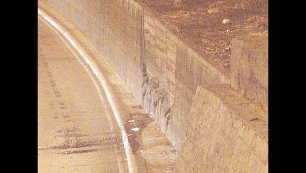 Reportan rajadura en Vía Parque Rímac que afecta Vía Evitamiento