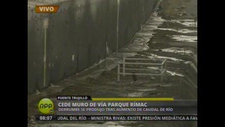 Nuevas filtraciones en muros de contención de Vía Parque Rímac
