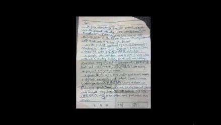 Descubren carta de empleado chino denunciando abusos