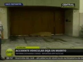 Hombre muere atropellado en La Molina