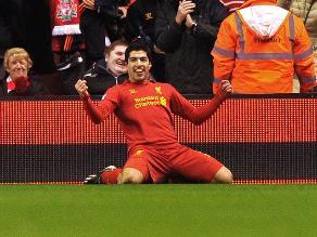 Liverpool goleó 3-0 al Sunderland con gran actuación de Luis Suárez