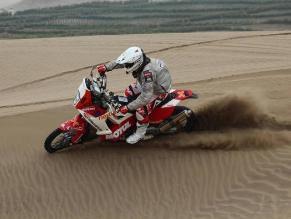 Felipe Ríos fue el mejor motociclista peruano tras la etapa de Pisco