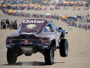 Nasser Al-Attiyah gana tercera etapa de autos del Rally Dakar 2013