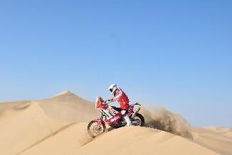 Felipe Ríos sigue siendo el peruano mejor ubicado en motos en el Dakar