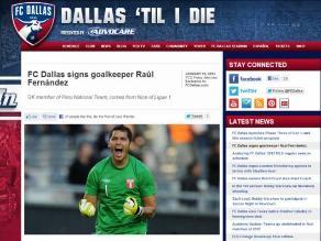Técnico de FC Dallas destacó fichaje del portero Raúl Fernández