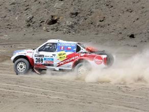 Ramón Ferreyros fue el mejor peruano en autos en sexta etapa del Dakar