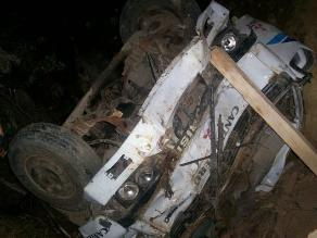 Cajamarca: Despiste y vuelco de camión deja dos muertos en San Ignacio