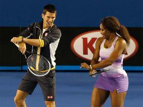 Novak Djokovic y Serena William bailan el ´Baile del Caballo´