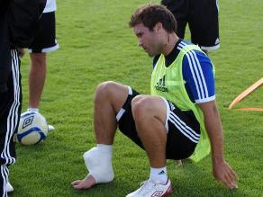 Renzo Revoredo se lesionó en las prácticas de Sporting Cristal