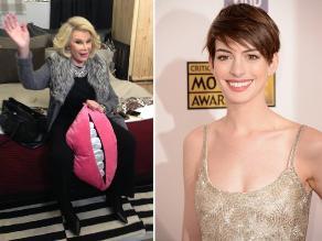 Joan Rivers se burló de Anne Hathaway en Twitter