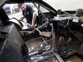 FOTOS: Pilotos dejaron sus vehículos listos para la novena etapa del Dakar