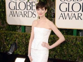 Globos de Oro 2013: Anne Hathaway emocionada tras recibir premio