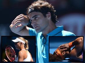Un susto, el calor y la belleza marcaron la jornada del Australia Open
