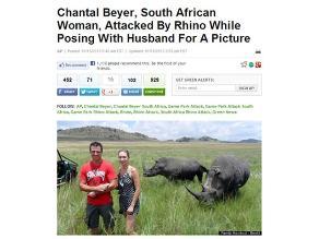 Turistas son atacados por rinocerontes tras tomarse fotos con animales