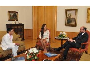 Damaris y Américo recibidos por el Canciller de Chile