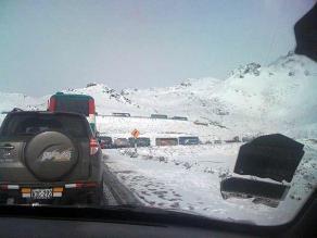 Junín: Pasajeros varados en Ticlio son auxiliados por la PNP