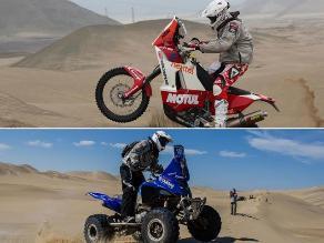 Ignacio Flores y Felipe Ríos se mostraron felices por terminar el Dakar