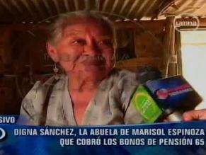 Abuela de Marisol Espinoza vive en un asentamiento humano