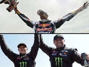Dakar 2013: Así celebraron Cyril Despres y Stéphane Peterhansel tras ganar