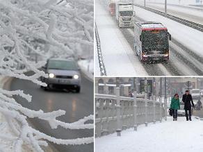 Europa: Nieve y hielo cubren algunos países del viejo continente