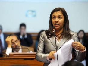Bancada Gana Perú respalda a vicepresidenta Marisol Espinoza