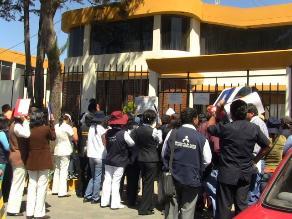 Arequipa: Contratados de Salud realizaron plantón de protesta