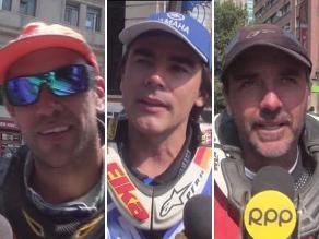 Pilotos peruanos se mostraron contentos al llegar a la meta del Dakar