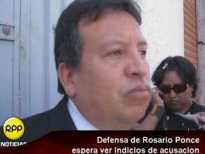 Arequipa: Defensa de Rosario Ponce espera ver indicios de acusación