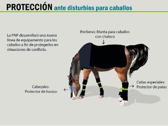 Conozca la armadura especial que tendrán los caballos policía