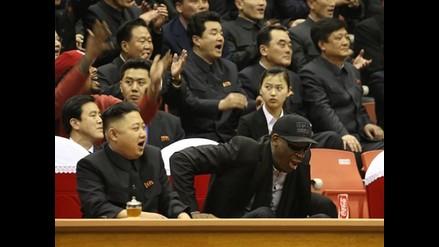 Kim Jong-un disfruta del show de los Harlem Globetrotters