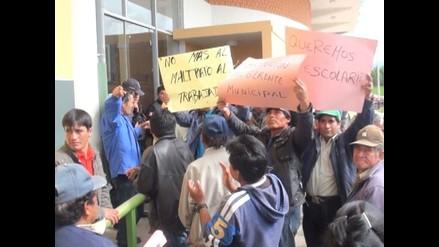 Cajamarca: Trabajadores municipales acataron plantón