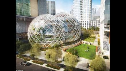Así serán las oficinas futuristas de Amazon en Seatle