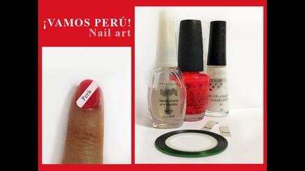 Así alentamos a la selección: Manicure ¡Arriba Perú!