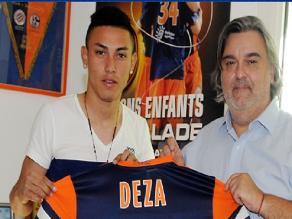 Jean Deza fue presentado como jugador del Montpellier