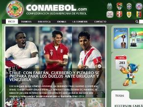 Conmebol comete error al confundir a selección peruana con la chilena