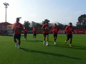 Selección peruana trabaja en la Videna pensando en triunfo ante Uruguay