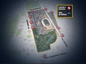 Cierres en inmediaciones del Estadio Nacional por el Perú-Uruguay
