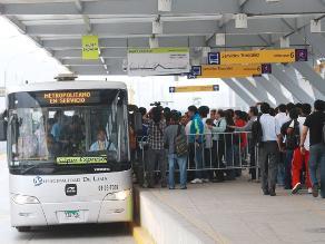 Aumentarán buses y ampliarán horario del Metropolitano por Perú-Uruguay