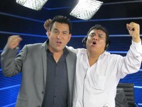 Los Chistosos alientan a la selección peruana